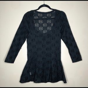 Free People Tops - Free People med/large fitted lace tunic.